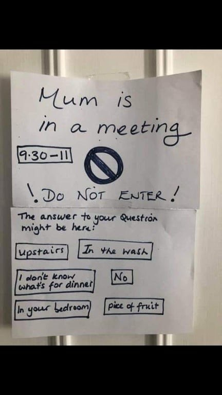 mom in meeting